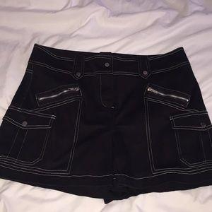 Cach'e black with white thread skort stretch 10